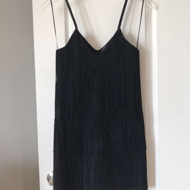 Topshop Fringed Mini Dress