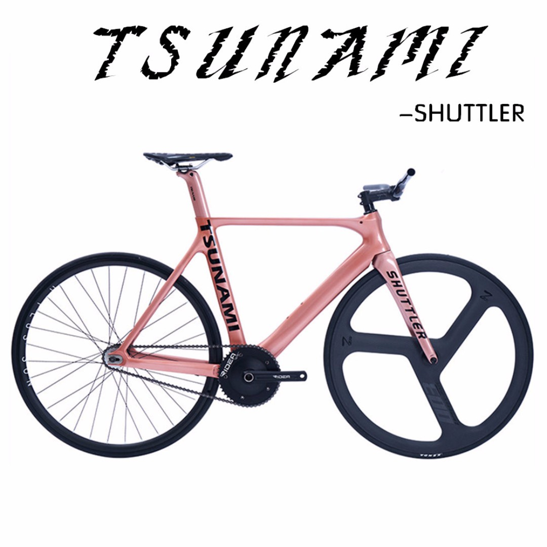 Tsunami Fixed gear - SHUTTLER - Full bike/ Frameset, Full carbon ...