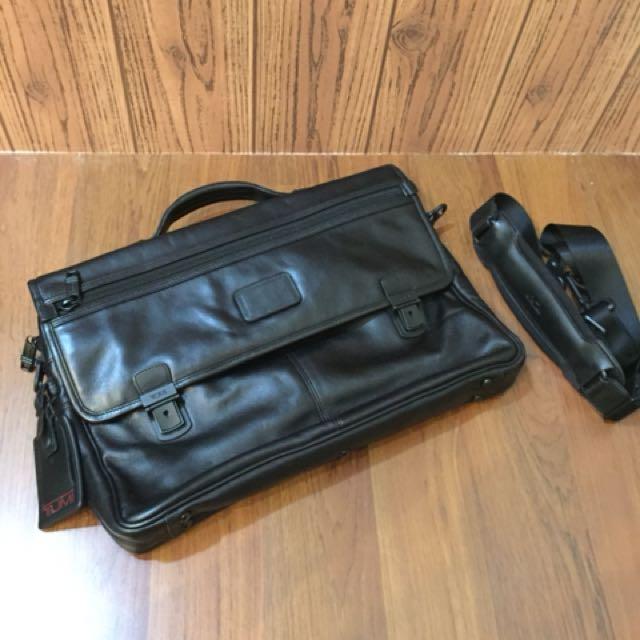 Tumi Alpha Slim Flap Brief Leather, SN 96167DH