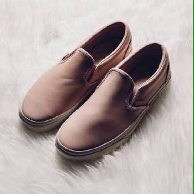 Vans slip on veggie tan leather