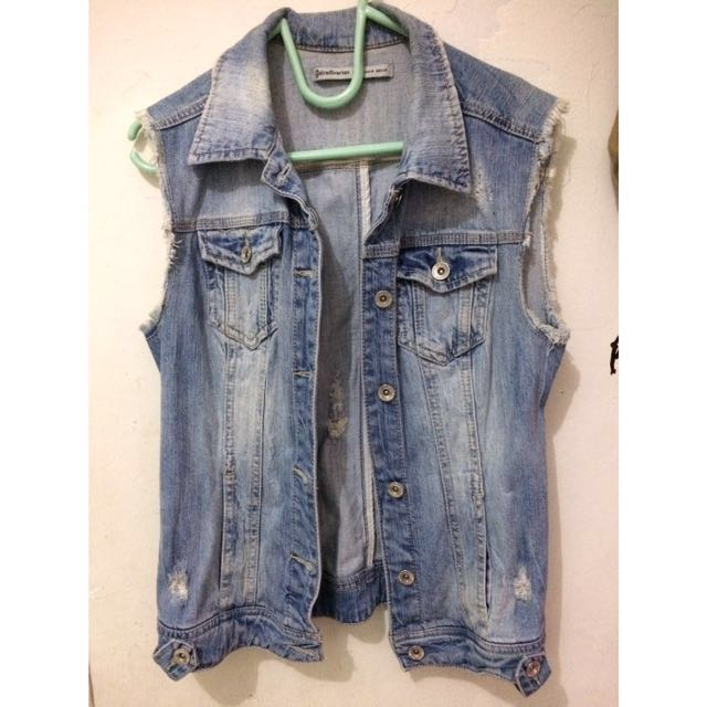 Vest jeans stradivarius