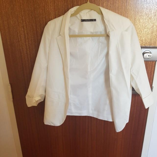 White blazer jacket light wear