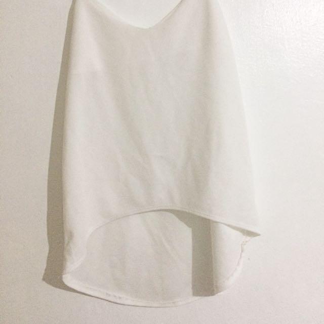 White string sleeveless