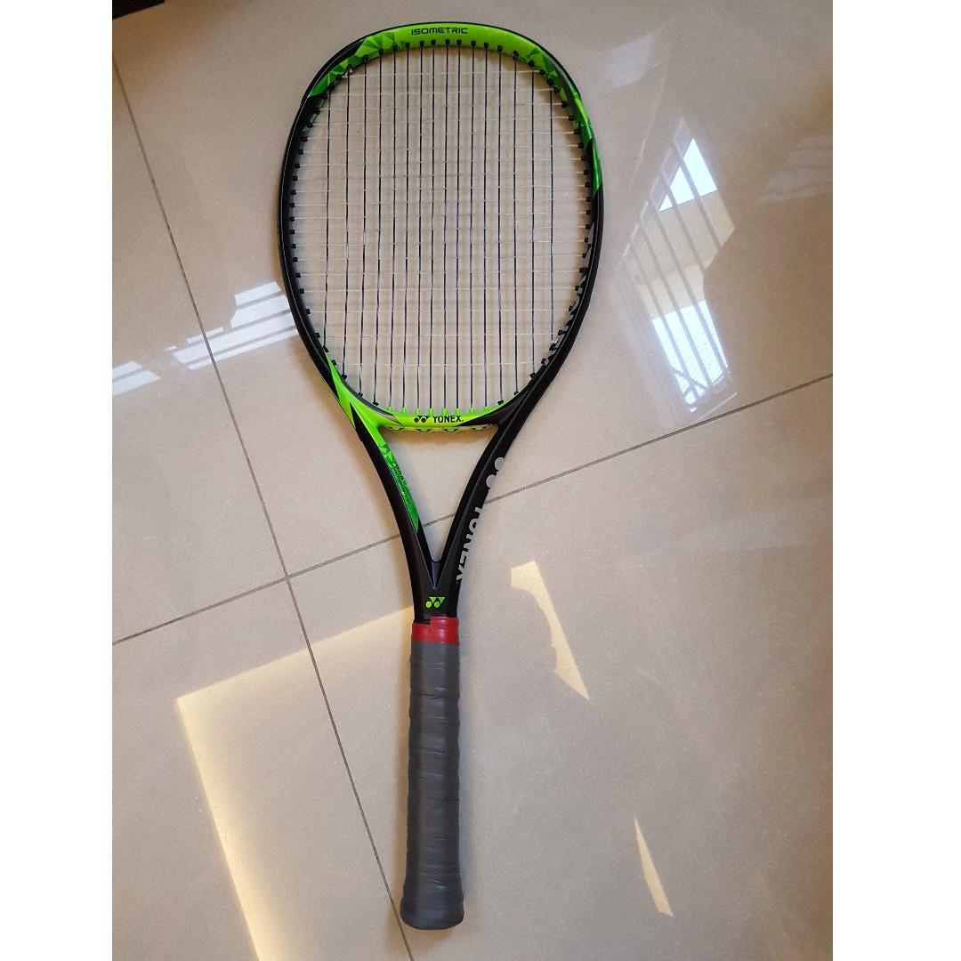 Yonex 2017 EZONE 98 Tennis Racquet Racket Lime Green String 98sq 305g G2 16x19