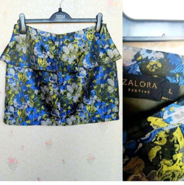 Zalora flower skirt