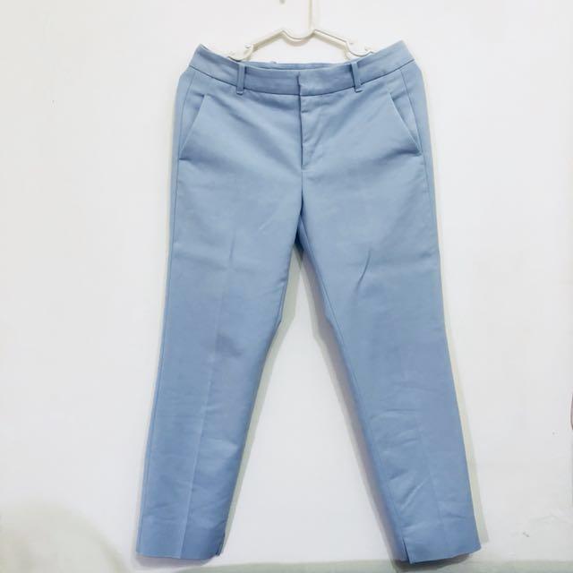ZARA 淺藍色西裝褲