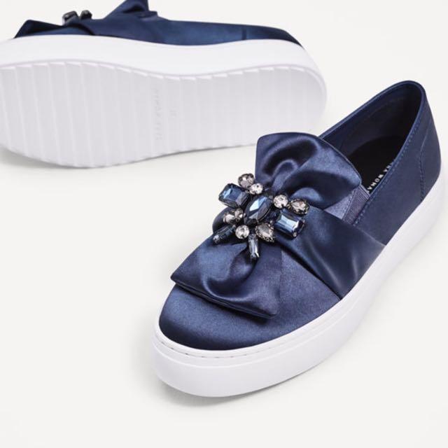 zara 寶石懶人鞋