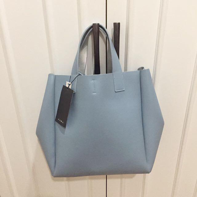 Zara blue bag with strap