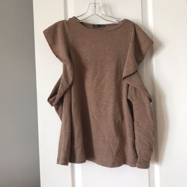 Zara cold shoulder sweater