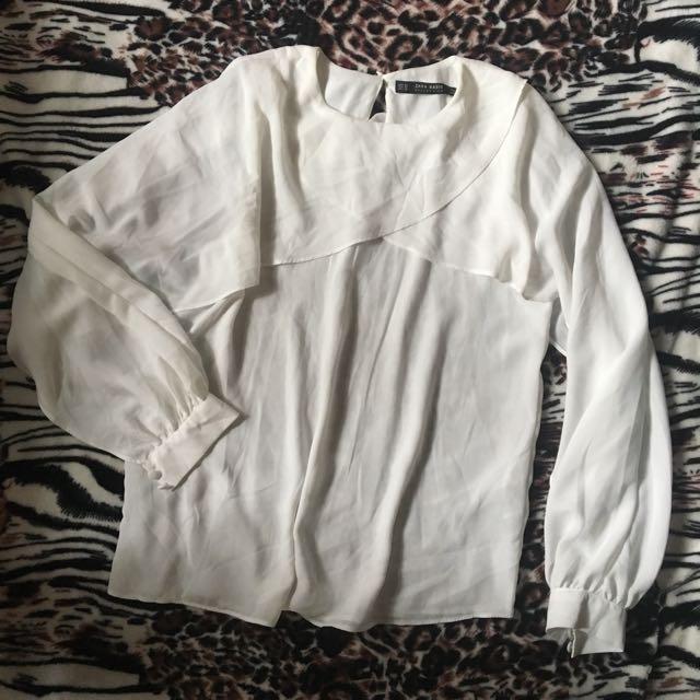 Zara Open Sleeve Top / Butterfly Sleeves