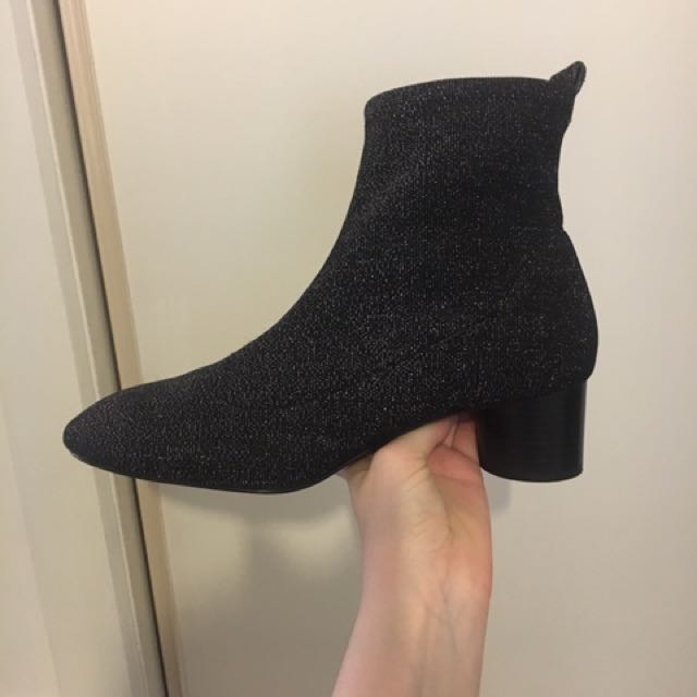 Zara sparkle sock boot
