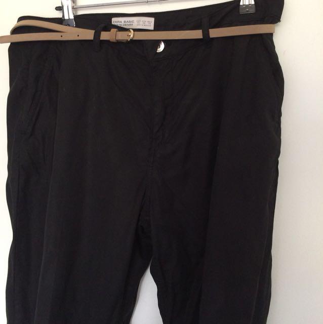 Zara straight leg trouser pants
