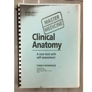 [Medical Book ] Master medicine : Clinical Anatomy (Photocopy)