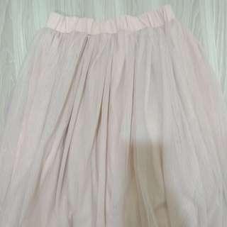 ⚡近全新⚡粉色中長款紗裙