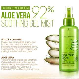 Nature republic aloe vera face mist