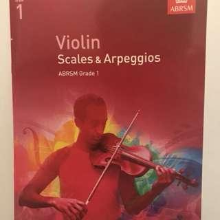 Grade 1 Violin Scales