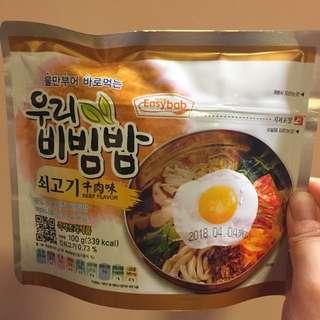 🥣Easybab 韓國即食牛肉味泡菜飯 instant beef flavour bibimbap