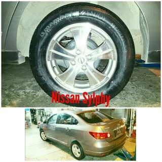 Tyre 195/65 R15 Membat on Nissan Sylphy 🐓 Super Offer 🙋