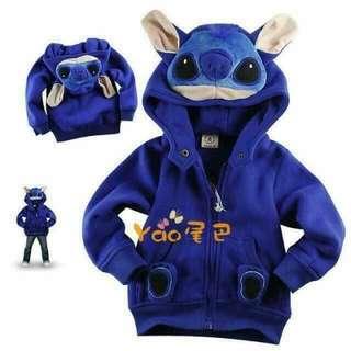 Unisex Stitch Hoodie Jacket for kids
