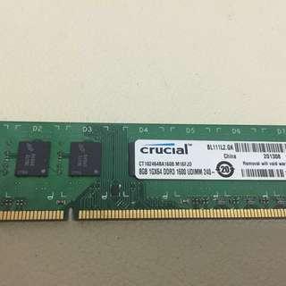 Crucial DDR3 8GB Ram 1600mhz Desktop