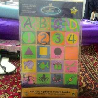 Imaginarium ABC/123 Alphabet Picture Blocks