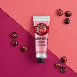 BN The Body Shop Frosted Berries Hand Cream