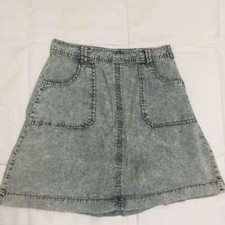 Forever 21 Acid Wash Denim Skirt