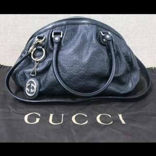 GUCCI AUTHENTIC LEATHER GUCCISSIMA SHOULDER BAG