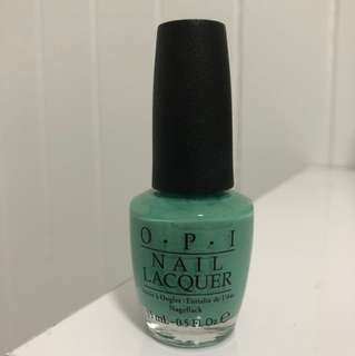 Authentic OPI jade green nail polish my dogsled is a hybrid full size used once