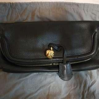 Alexander McQueen skull padlock fold-over clutch bag