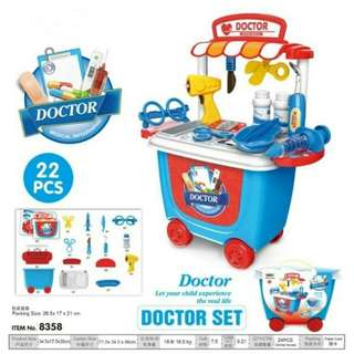 Doctor Trolley Blue 22Pcs