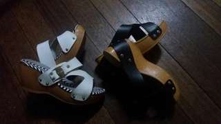 Wedge sandals bundle 2