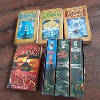 David Eddings / Robert Jordan Books