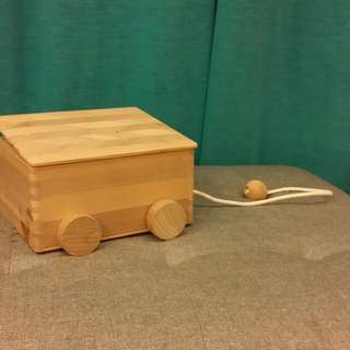 Wooden pulley Toy building blocks