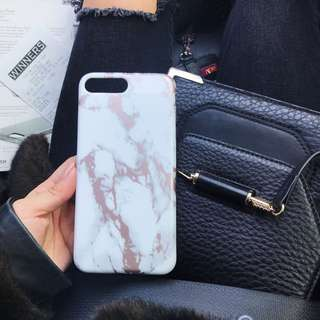 iPhone 6/7/8 plus Rose gold marble case
