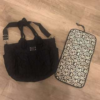 Marc by Marc jacobs 黑色奶粉袋 媽媽袋 baby bag