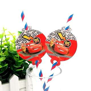 🚗 Disney Cars party supplies - straws / party deco / candy bar deco