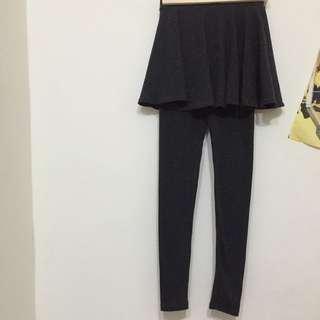 韓 兩件式褲裙