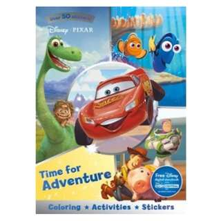 Disney Pixar Time For Adventure Sticker Scenes & Colouring