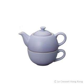 Le creuset tea pot with cup (blue)