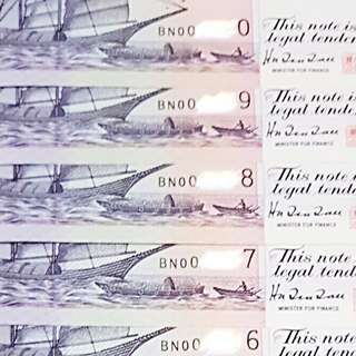 🌟BN🌟replacement prefix ship series two dollar 🌏10RUN🌏UNC💎