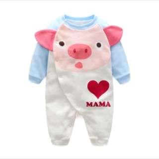 嬰兒豬仔冬季連體衣