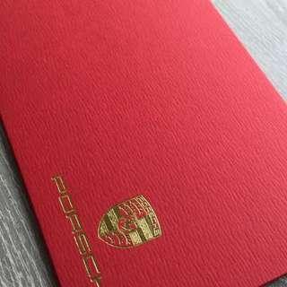 PORSCHE 保時捷紅包袋5入紅色