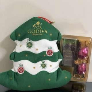 Godiva Holiday Tree Shaped Pouch