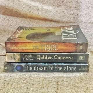 Book Bundle: Three Books for 100 (The Tribe + Golden Country + The Dream of The Stone)