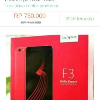 Oppo f3 plus red