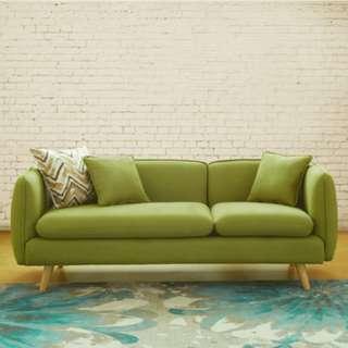 【♚現代簡約北歐傢具小布藝沙發組合 10色 坐墊/抱枕★可拆洗★ ♚】