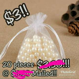 Last stock 20 pieces @$3 mailed !! Small Mesh drawstring bag!!