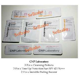 Korea CNP Laboratory SPF 42 & Invisible Peeling Boosters : Trial Size Skincare Samples Travel Sellzabo Skin Face Facial Care Exfoliating Sunscreen Essence Serum Satchets