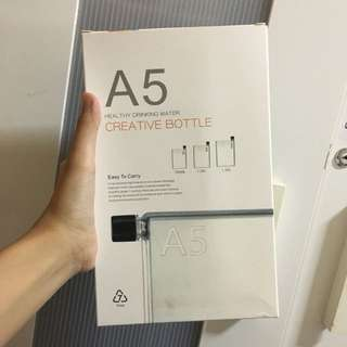 Brand New A5 drinking water bottle